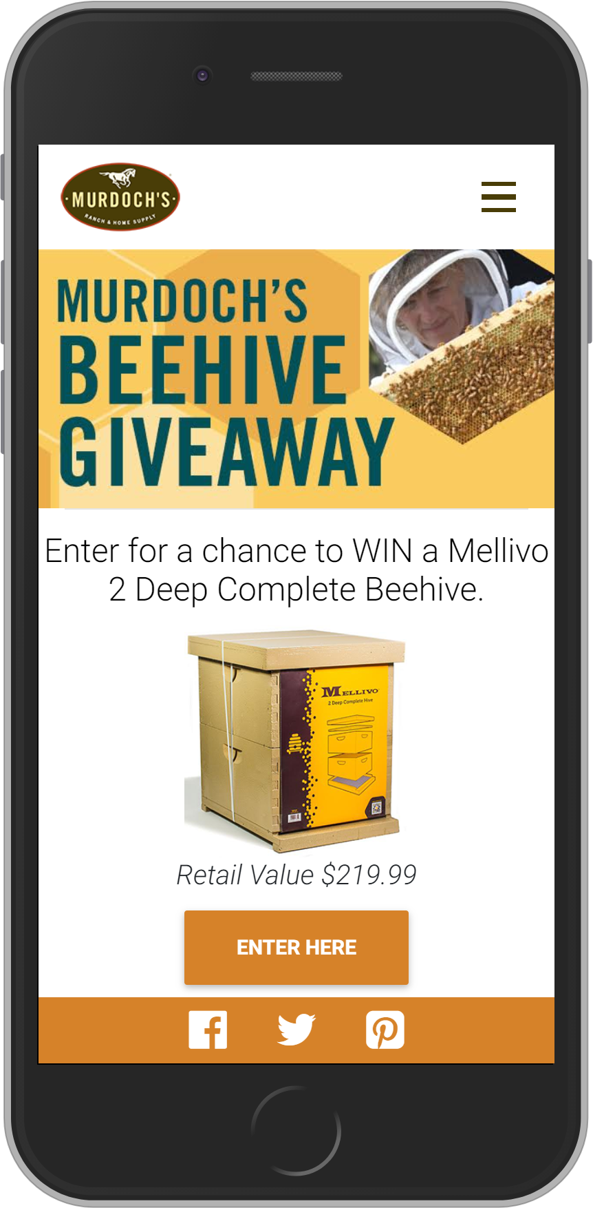Beehive Text Sweepstakes